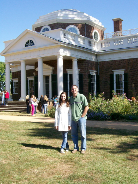 Emily and Me at Monticello