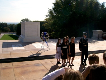 Wreath Laying Ceremony Students