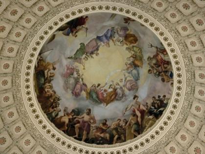 Mural inside the Capitol rotunda