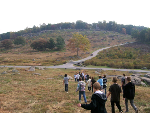 Little Round Top as seen from near Devil's Den