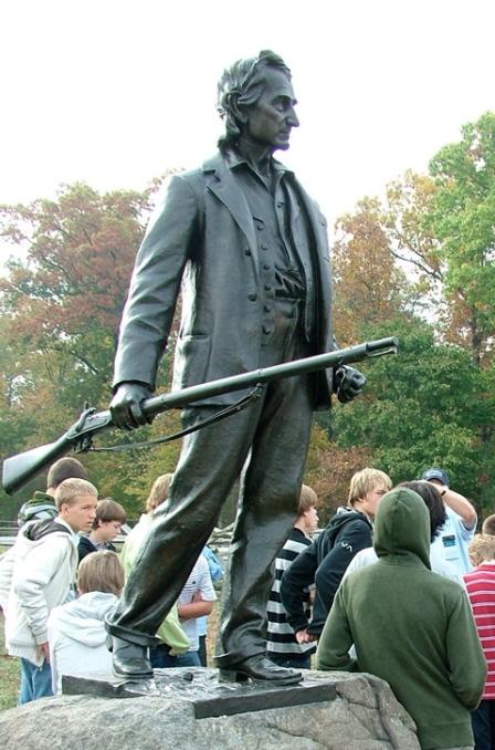 Statue of Gettyburg Resident John Burns