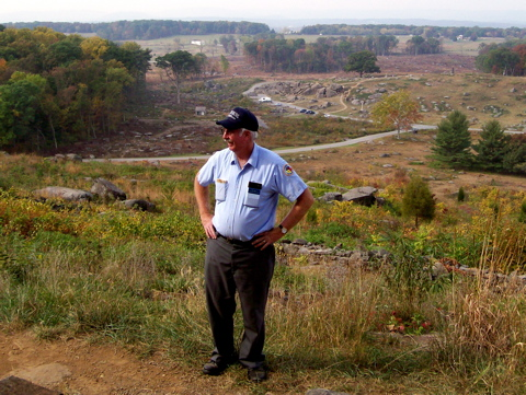 Ed Guy on Little Round Top