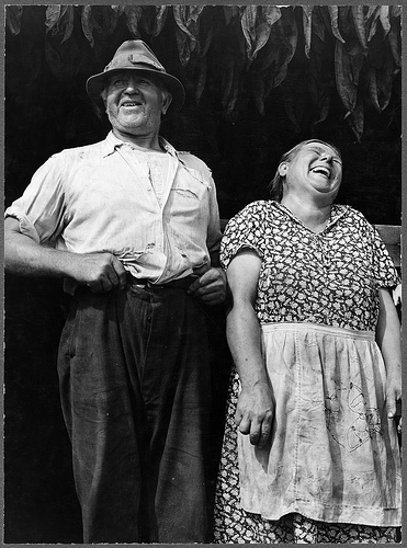 Mr. and Mr. and Mrs. Andrew Lyman, Polish tobacco farmers near Windsor Locks, Connecticut