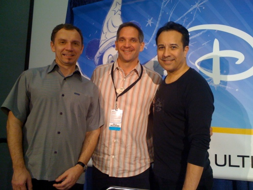 Andreas Deja and David Pacheco with D23 Expo host Craig Hodgkins